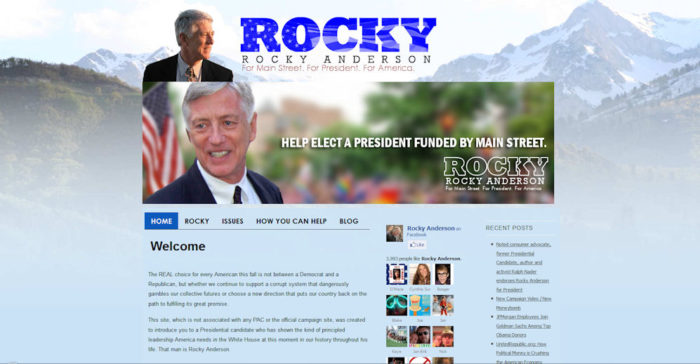 Rocky Anderson for Presidential